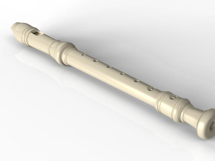 竖笛/长笛 3D打印模型渲染图