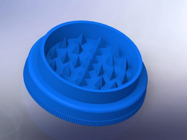草本植物研磨机 3D打印模型渲染图
