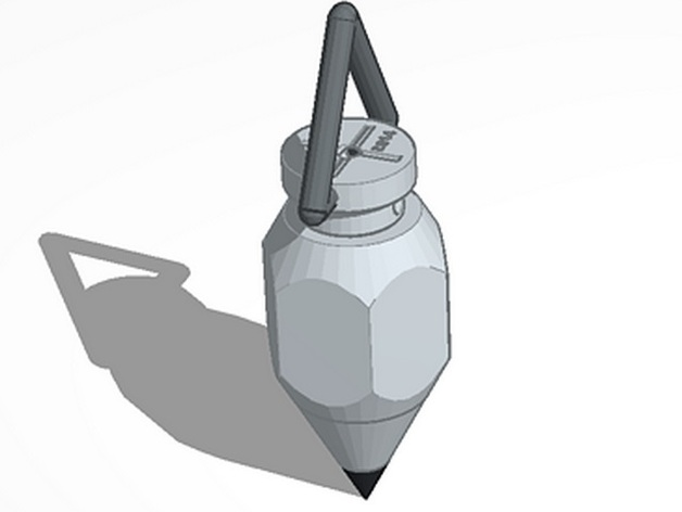 铅锤 3D打印模型渲染图