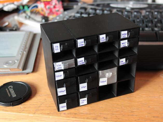 迷你存储箱/存储架 3D打印模型渲染图