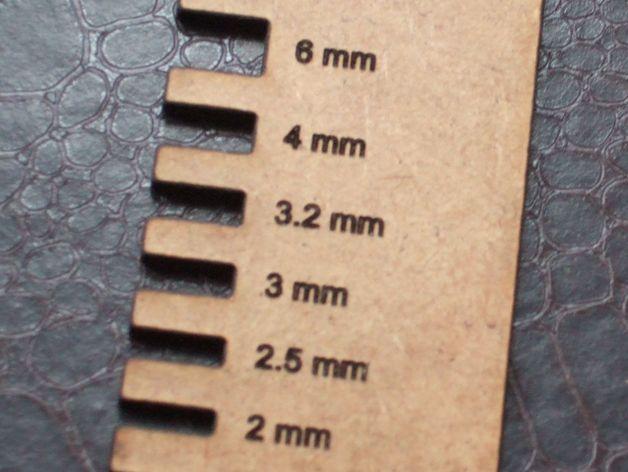 薄板厚度卡规 3D打印模型渲染图