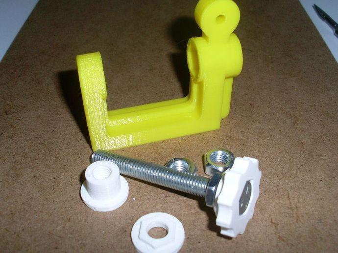 通用螺旋夹钳 3D打印模型渲染图