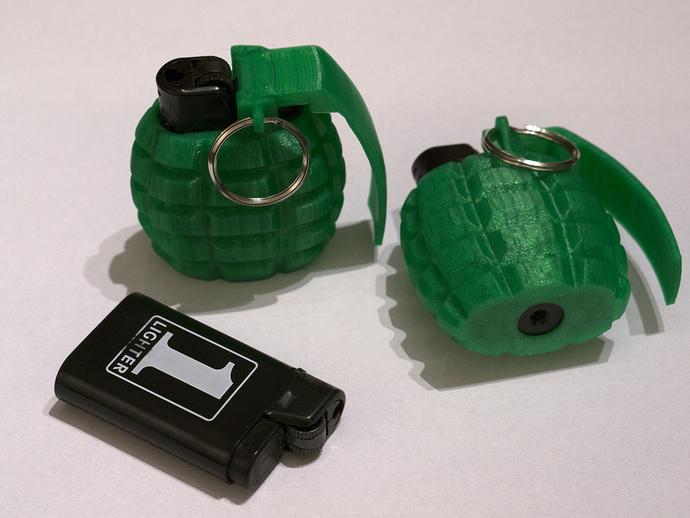 手榴弹形打火机套