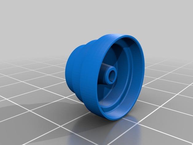 锥形皮带盘  3D打印模型渲染图