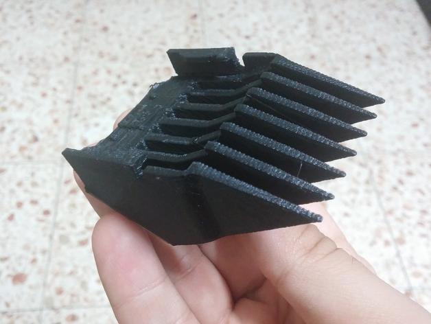 理发机刀片 3D打印模型渲染图