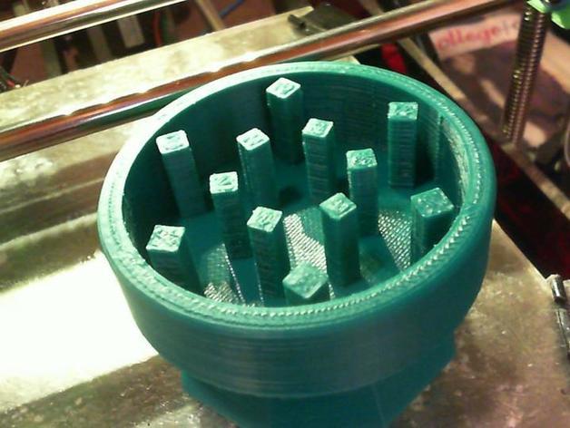 研磨机 3D打印模型渲染图