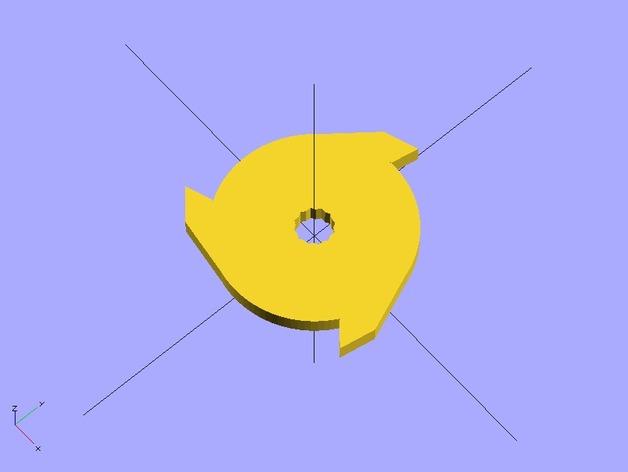定制化碎纸机刀片 3D打印模型渲染图