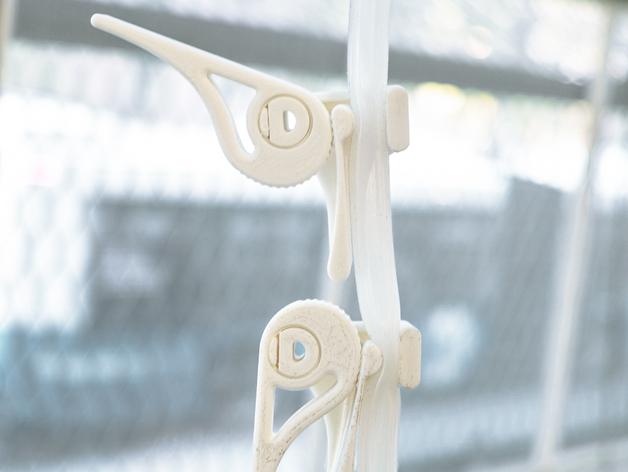 可调节夹管阀 3D打印模型渲染图