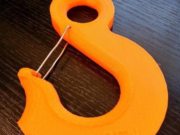 起重吊钩  3D打印模型渲染图