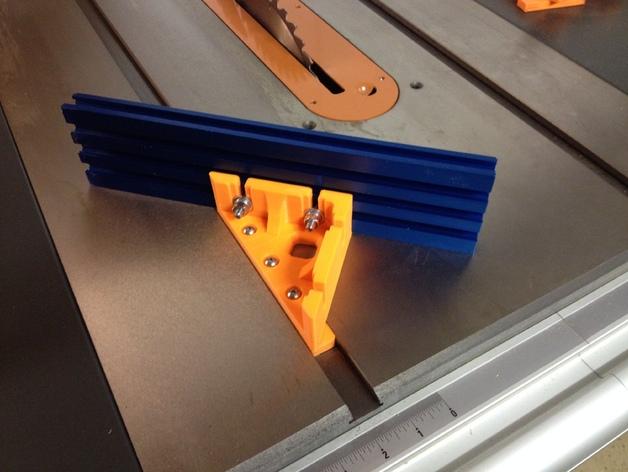 台锯45度倾斜角量规 3D打印模型渲染图