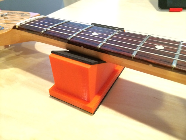 吉他琴颈支架 3D打印模型渲染图