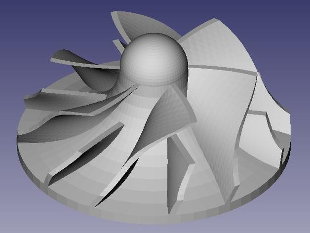 参数化离心式叶轮 3D打印模型渲染图