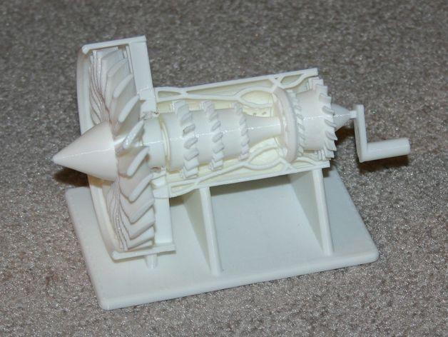 喷射发动机零部件 3D打印模型渲染图
