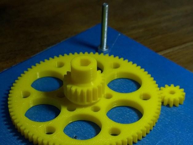 测试用齿轮 3D打印模型渲染图