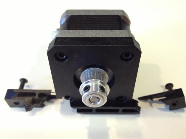 双挤出机3D打印机Y轴电动机固定架 3D打印模型渲染图