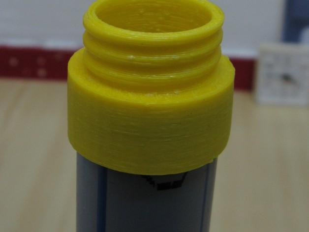 定制化塑料管连接头 3D打印模型渲染图