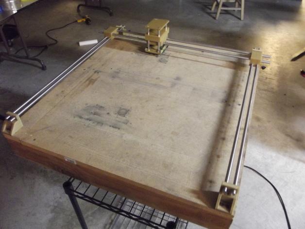 线性砂光机 3D打印模型渲染图