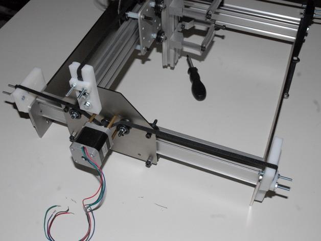 shapeoko X轴皮带夹 3D打印模型渲染图
