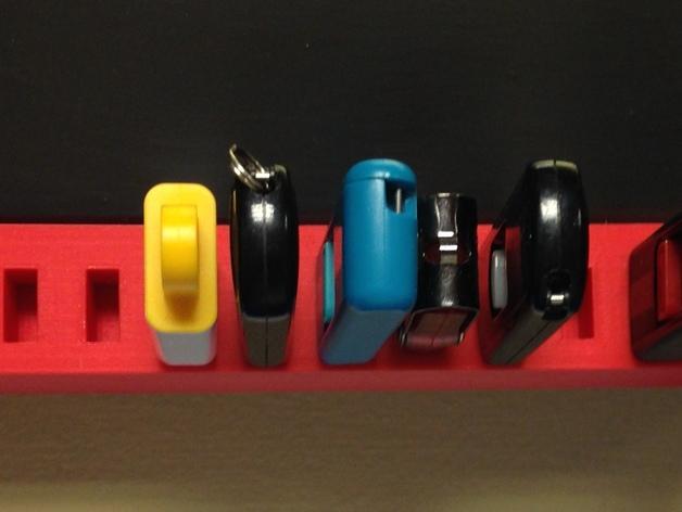 壁挂式USB架 3D打印模型渲染图