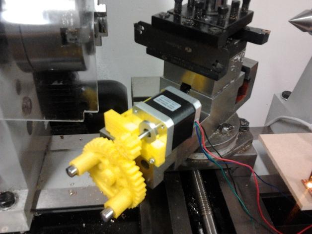 CNC数控车床零部件 3D打印模型渲染图