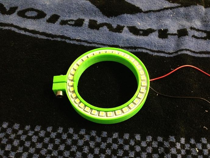 G0704/TM20VL铣床主轴LED照明环 3D打印模型渲染图