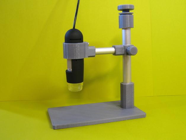 USB显微镜座 3D打印模型渲染图