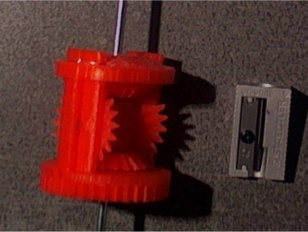机械设备零部件 差动总成 3D打印模型渲染图