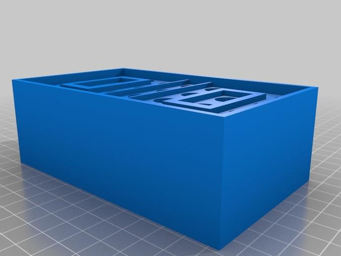 弹药箱  3D打印模型渲染图