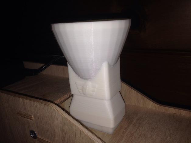 定制化方形管道配适器 3D打印模型渲染图