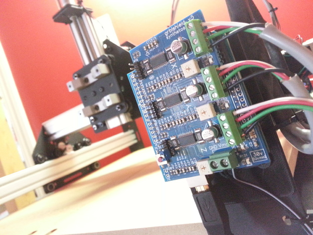 Shapeoko 2 Arduino电路板底板 3D打印模型渲染图
