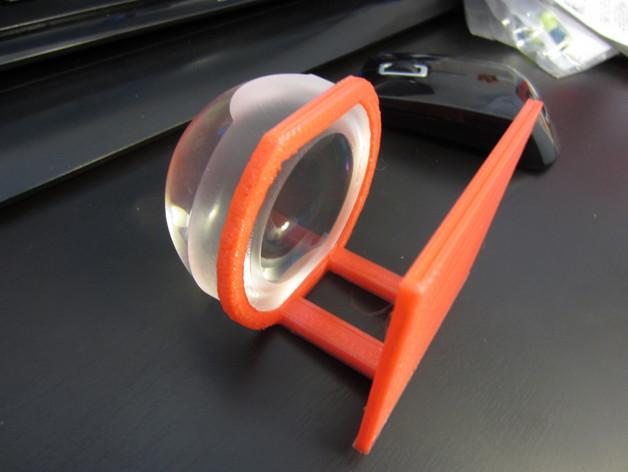 球形3X放大镜 支架 3D打印模型渲染图