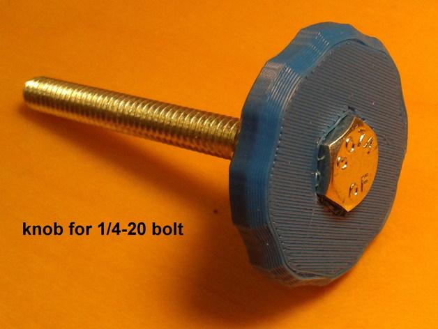 1/4螺丝 把手 3D打印模型渲染图