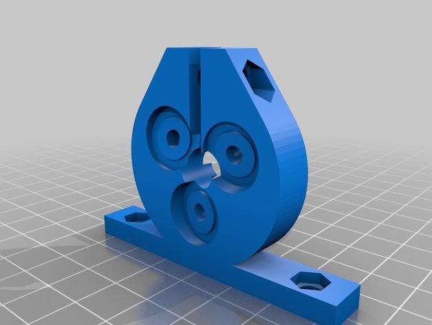 定制化滚珠丝杆 3D打印模型渲染图