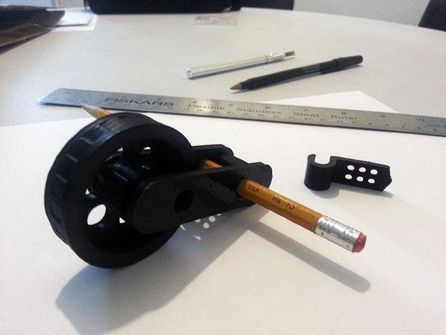 滚轮 测量装置 3D打印模型渲染图