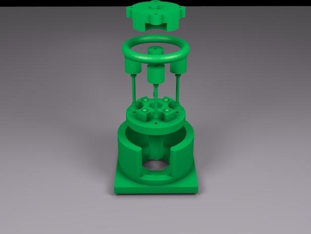 参数化蠕动泵 3D打印模型渲染图