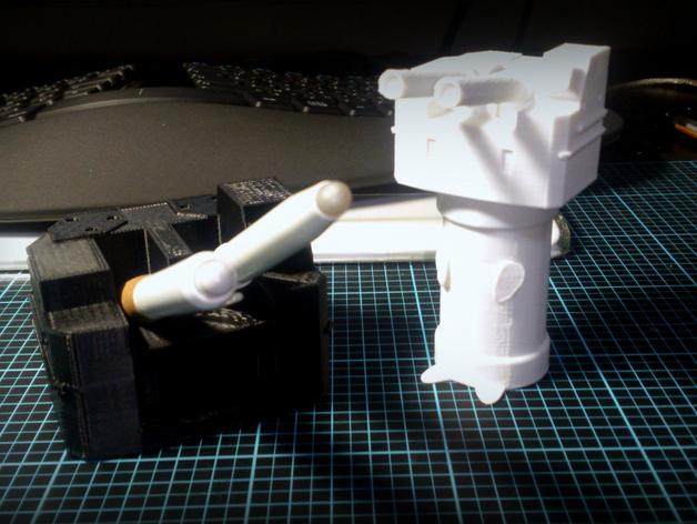 坦克笔架 3D打印模型渲染图