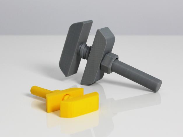 老式扳手 3D打印模型渲染图