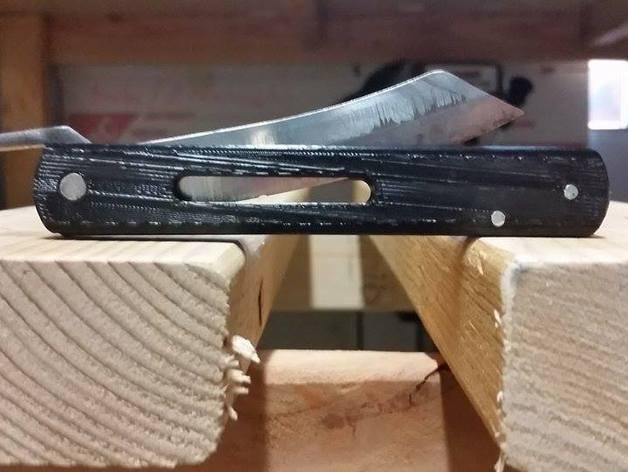 Higonokami 刀柄 3D打印模型渲染图