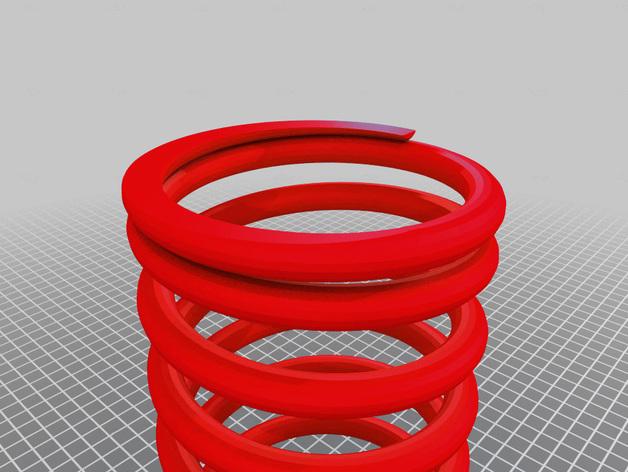 螺旋弹簧 3D打印模型渲染图