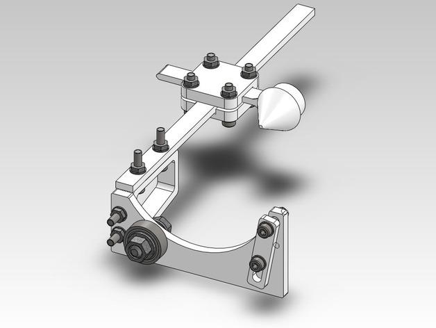 玻璃瓶切削夹具  3D打印模型渲染图