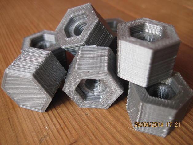 六角螺帽 3D打印模型渲染图