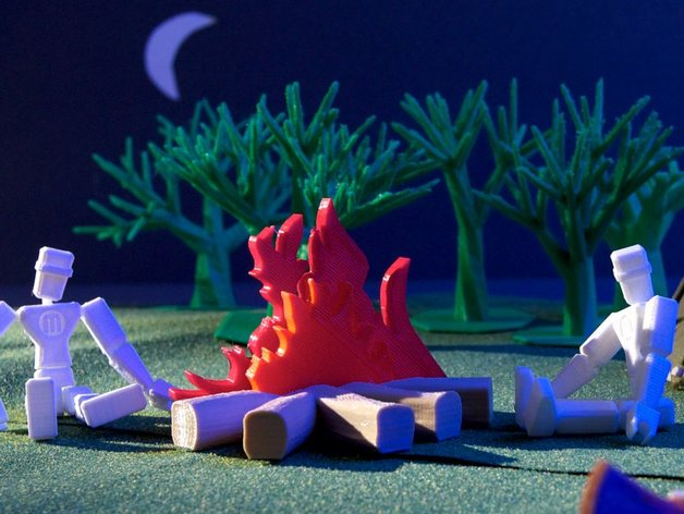 篝火 3D打印模型渲染图