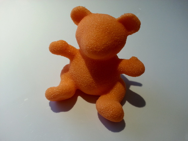 小绒毛熊 3D打印模型渲染图