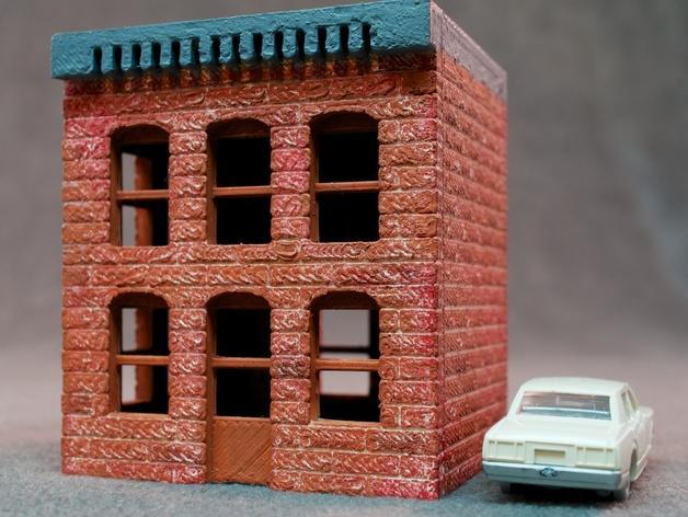 模数法建筑 3D打印模型渲染图