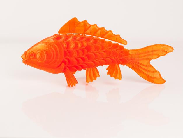 锦鲤 3D打印模型渲染图