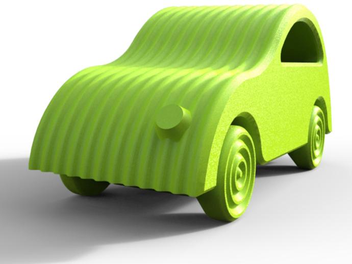 小汽车 3D打印模型渲染图