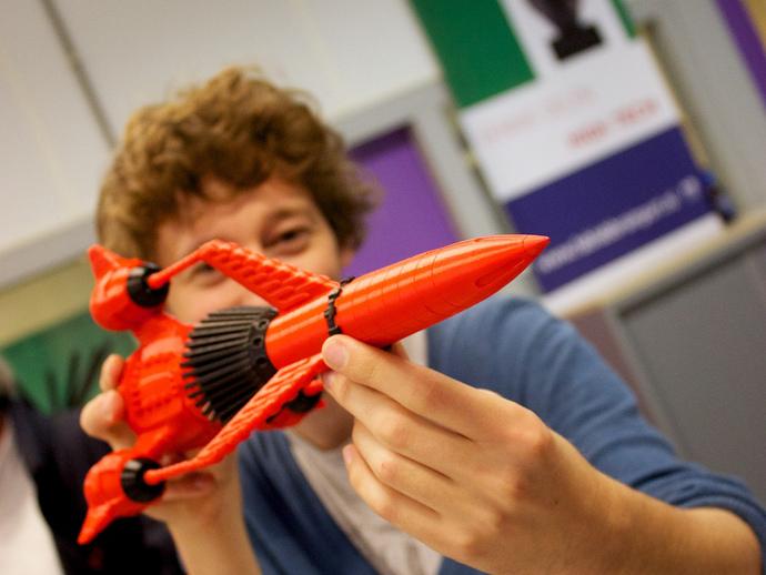 雷鸟 3D打印模型渲染图