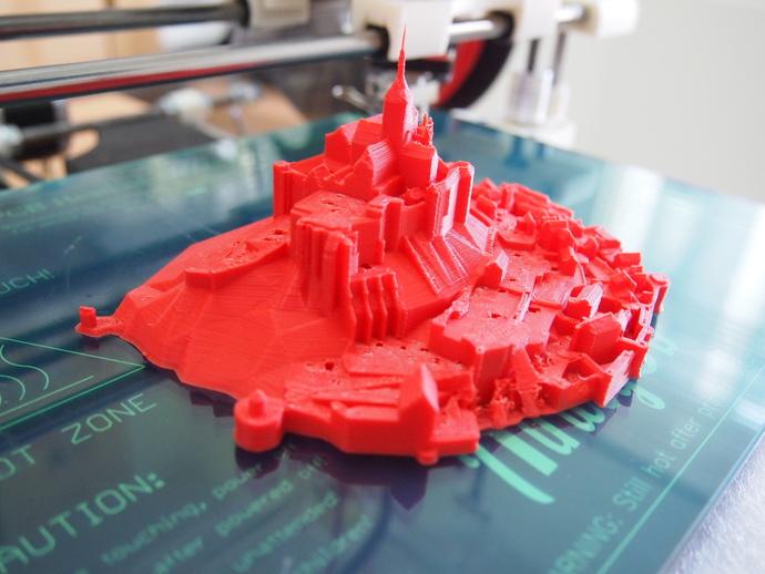 圣米歇尔山 3D打印模型渲染图