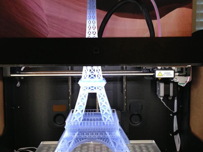 埃菲尔铁塔 3D打印模型渲染图