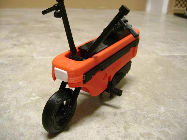 折叠踏板车 3D打印模型渲染图